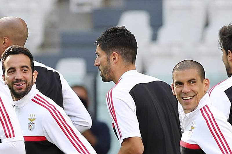 Treino do Benfica em Turim
