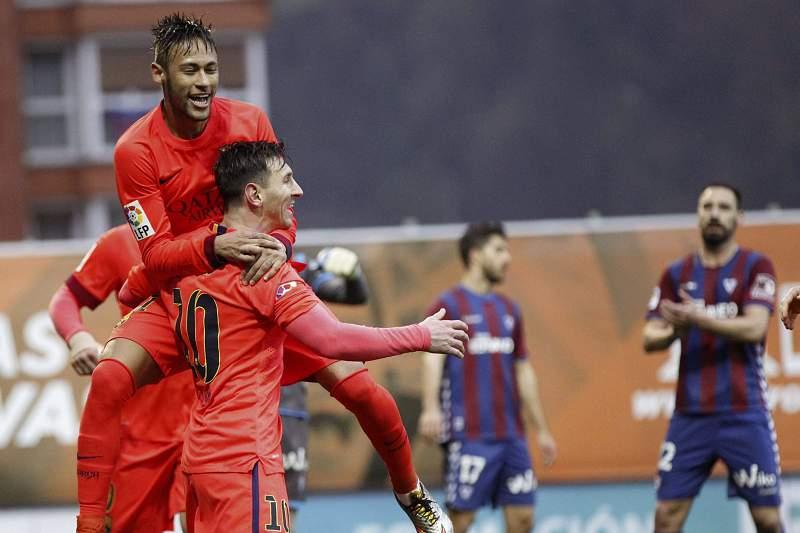 Messi bisa na vitória do Barcelona