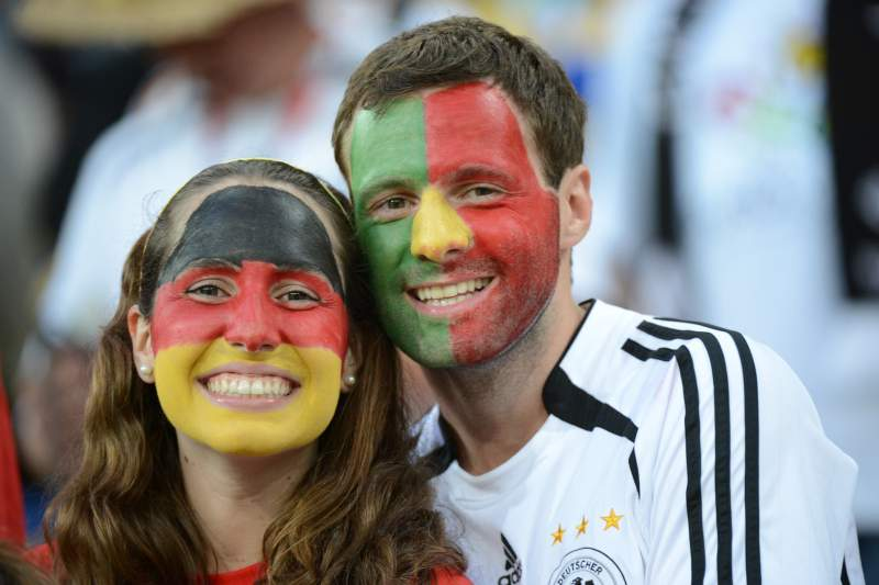 Portugal Alemanha fãs pessoas alemães portugueses