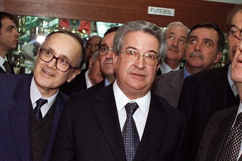 Ramos Lopes com Jorge Sampaio numa visita ao Restelo do presidente da República em 2000