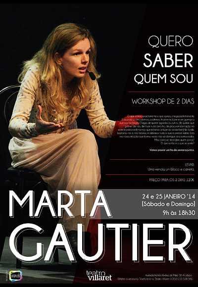 Marta Gautier - Workshop | Quero Saber Quem Sou