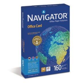 Papel 160gr A4 Navigator (Office Card) 1x250Folhas ref 1801054
