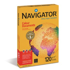 Papel 120gr A4 Navigator (Colour Document) 1x250Folhas ref 1801055