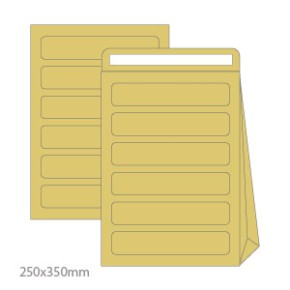 Pack 10 Sacos Correio Interno Kraft 110gr 250x350mm (B4) ref1611015
