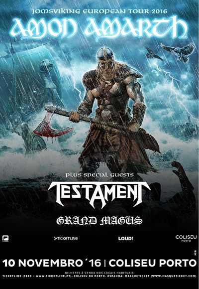 Amon Amarth + Testament + Grand Magus