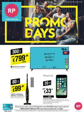 Promo Days - Folheto Radio Popular de 08 jan 2019 a 21 jan 2019