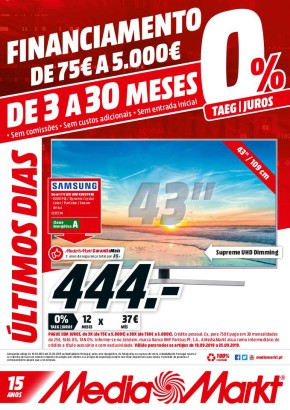 Financiamento de 75€ a 5000 € - Folheto Media Markt de 19 set 2019 a 25 set 2019