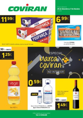 Supermercados - Folheto Coviran de 25 set 2018 a 07 out 2018