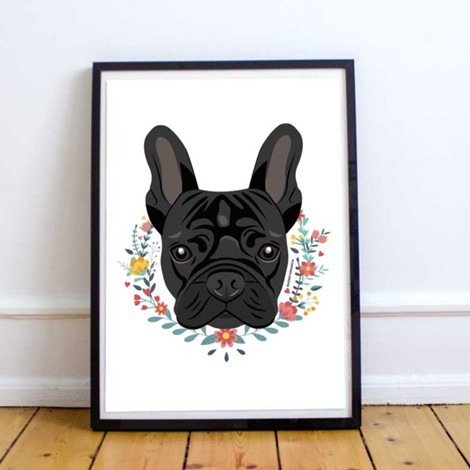 Frenchie Black | Art Print