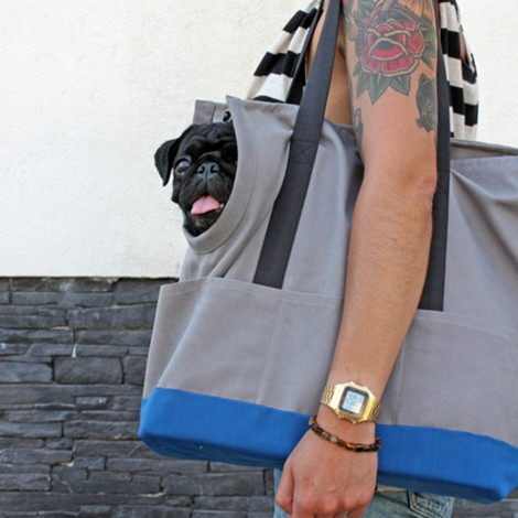 Dog Carrier // Concrete Blue