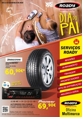 Dia do Pai - Folheto Roady de 01 mar 2018 a 25 mar 2018