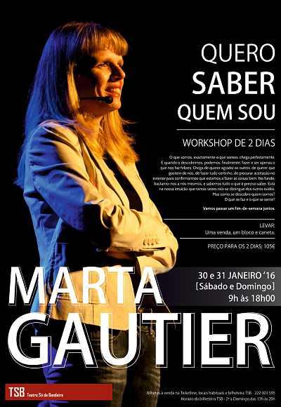 Marta Gautier   Workshop - Quero Saber Quem Sou