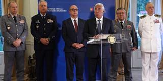 Resultado de imagem para reunião de antónio costa com os  militares