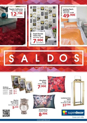 Saldos superdecor - Folheto Superdecor de 03 jan 2017 a 25 fev 2017