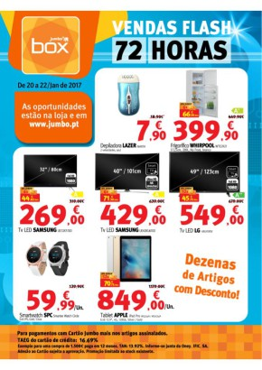 Vendas flash 72 Horas - Folheto Box de 20 jan 2017 a 22 jan 2017