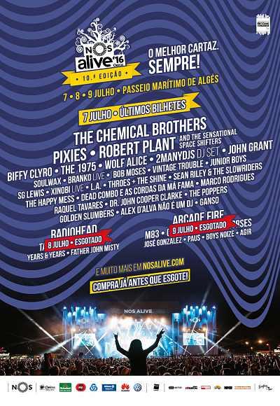 Nos Alive'16 - 7, 8 & 9 Jul