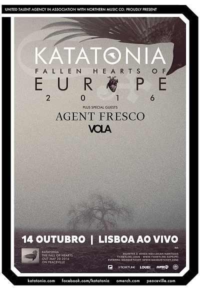 Katatonia + Agent Fresco + Vola