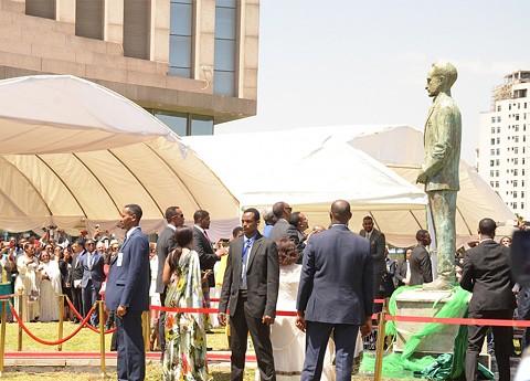 Inauguração da estátua do Imperador Haile Selassie