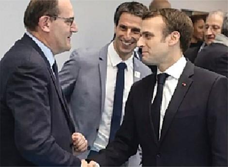 Jean Castex e Emmanuel Macron - uma nova equipa para o desafio de desconfinar a França