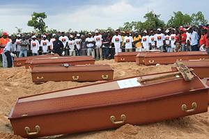 Funeral das vítimas mortais do acidente de viação provocado por condutor descontrolado