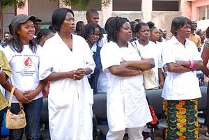 Participantes ao acto provincial do Dia Mundial da Saúde recentemente assinalado