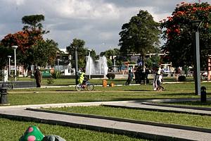 O jardim da Cultura com as suas várias áreas de recreação e lazer é um um verdadeiro cartão de visita da cidade