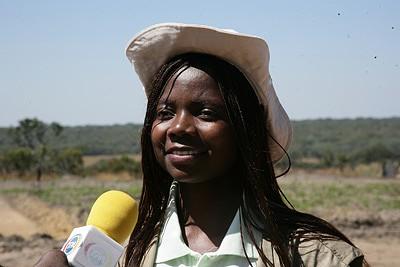 A futura fazendeira Maria Antunes