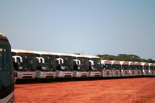 A frota de transportes públicos está a facilitar a movimentação dos munícipes