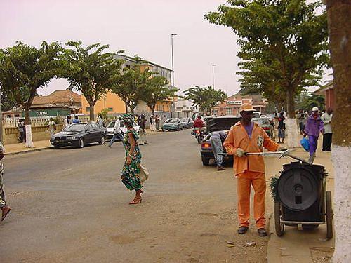 Um ângulo do centro da cidade de Cabinda cuja população é chamada a conservar as infra-estruturas públicas