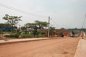 Vista de uma das principais ruas da sede municipal de Bolongongo