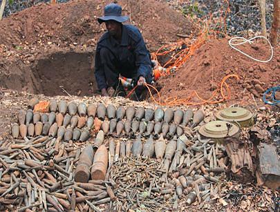 A remoção e destruição de engenhos explosivos tem permitido o alargamento das áreas potencialmente agrícolas e a circulação de pessoas  e bens em segurança
