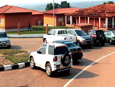 Instalações do Ensino Superior na cidade do Dundo que albergam a Escola Superior Pedagógica e as Faculdades de Direito, de Economia e a própria Reitoria da universidade