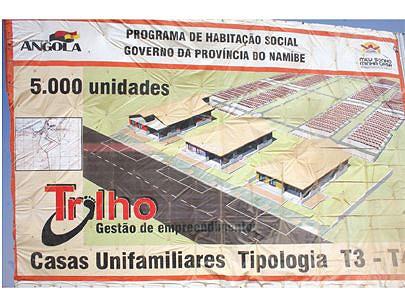 O programa deverá construir casas do tipo T3 e T4 e outras infra-estruturas de apoio como instituições escolares e hospitalares para atender a carência de residências que ainda é visível na província do Namibe