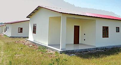 Oportunamente é divulgado um comunicado sobre o processo de venda e entrega das casas