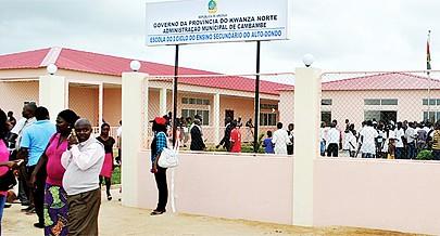 Entre as acções em curso na região destaque para a reabilitação e construção de escolas