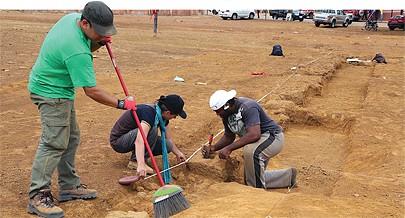 A escavação do antigo palácio dos reis  tem permitido descobrir importantes estruturas fundamentais para certificação da antiga cidade de  São Salvador do Congo