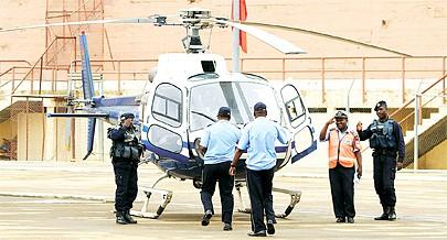 Os helicópteros têm contribuido para o combate à criminalidade no transporte de doentes além do socorro às vítimas de acidentes