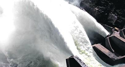 Pormenor da barragem hidroeléctrica de Capanda na província de Malanje que é responsável pelo abastecimento de energia eléctrica à diversas regiões do norte do país