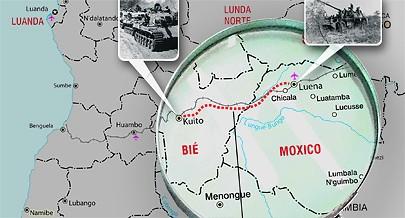 """A intervenção sul-africana concretizada com a """"Operação Savana"""" levou à ocupação da cidade do Luena durante mais de dois meses"""