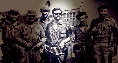 O comandante Arguelles (de óculos escuros ao centro) deu a vida por Angola