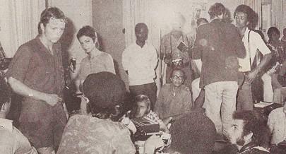 Prisioneiro sul-africano quando foi apresentado em Luanda aos representantes dos órgãos de comunicação social internacionais