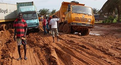 A grande preocupação de momento reside na progressão de ravinas em algumas aldeias