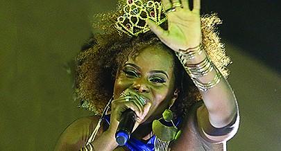 Cantora esteve em grande plano no Carnaval
