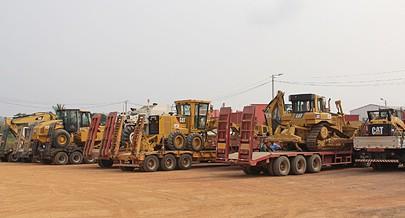 A Sino-Hidro  empresa chinesa à qual o Governo Provincial do Zaire adjudicou a construção  do troço tem no seu estaleiro todos os equipamentos e o material para o sucesso da empreitada
