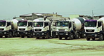 Pólo industrial investiu numa frota de veículos pesados para o transporte do betão
