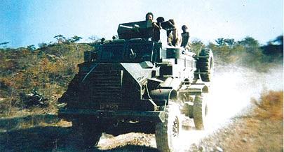 O patrulhamento tinha por objectivo proteger a zona onde os guerrilheiros exerciam controlo