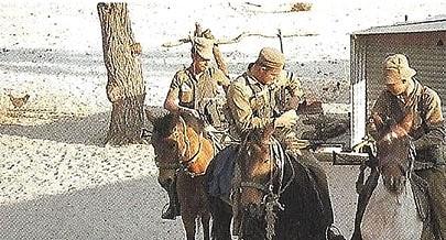 Polícia a cavalo era usada para patrulhar as zonas de fronteira habituais focos de conflito
