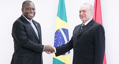 Vice-Presidente da República Manuel Vicente durante o encontro no Palácio do Planalto com o Presidente Michel Temer