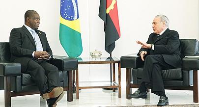 Vice-Presidente da República foi recebido pelo Chefe de Estado brasileiro à margem da Cimeira da CPLP que decorre desde ontem em Brasília