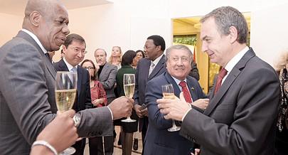 José Luís Rodriguez Zapatero foi uma das personalidades presentes na cerimónia